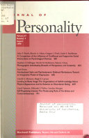 Journal of Personality
