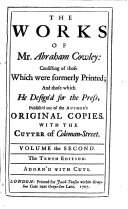 The Works of Mr. Abraham Cowley: