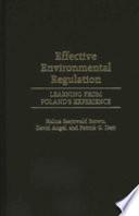 Effective Environmental Regulation