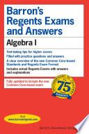 Barron's Regents Exam and Answers: Algebra I