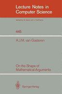 On the Shape of Mathematical Arguments