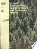Urban and Community Forestry Accomplishments in