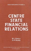 Centre-state Financial Relations