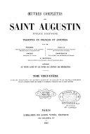 Oeuvres complètes de Saint Augustin, évêque d'Hippone ebook