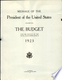 Message Of The President Of The United States Transmitting The Budget For The Service Of The Fiscal Year Ending