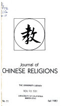 Journal of Chinese Religions Book PDF