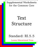 CCSS RI 5 5 Text Structure