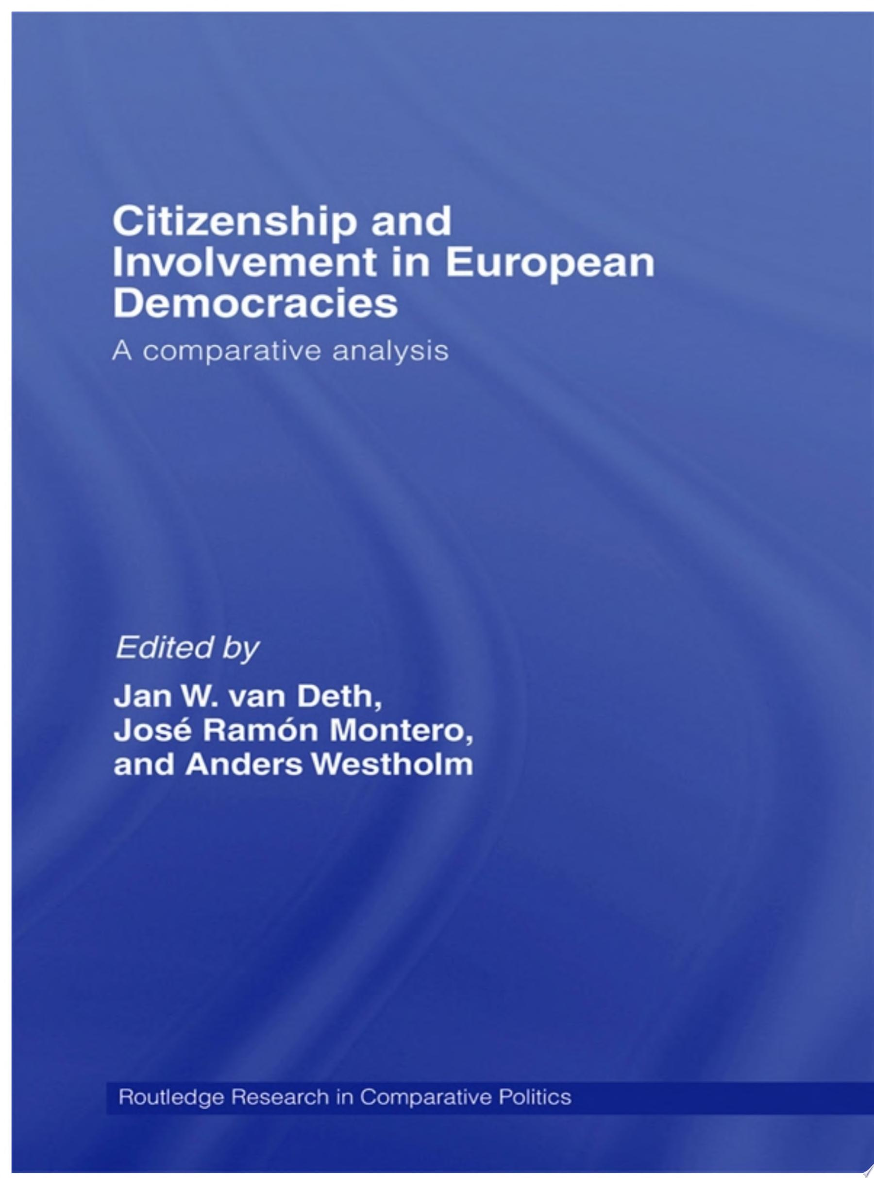 Citizenship and Involvement in European Democracies