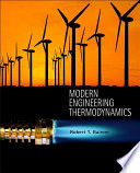 """Modern Engineering Thermodynamics"" by Robert T. Balmer"