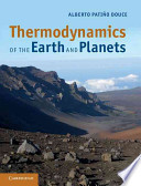 Thermodynamics of the Earth and Planets Book