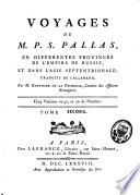 Voyages en différentes provinces de l'empire de Russie, et dans l'Asie septentrionale