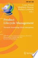 Product Lifecycle Management  Towards Knowledge Rich Enterprises