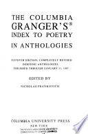The Columbia Granger's Index to Poetry in Anthologies