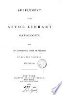 Catalogue Or Alphabetical Index