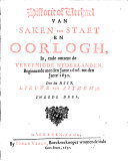Historie of Verhael van Saken  van Staet en Oorlogh     met het Jaer 1621   1630