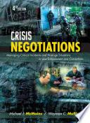 Crisis Negotiations Book