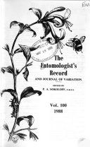 The Entomologist s Record and Journal of Variation