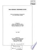 Rail-highway Crossings Study