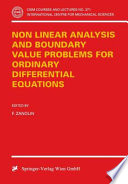 Non Linear Analysis and Boundary Value Problems for Ordinary Differential Equations
