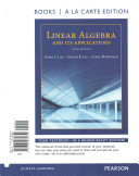 Linear Algebra and Its Applications  Books a la Carte Edition Plus Mymathlab with Pearson Etext    Access Code Card