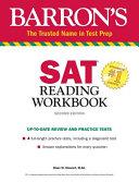 Barron s SAT Reading Workbook Book