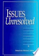 Issues Unresolved Book