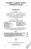 Department of Homeland Security Appropriations for 2006, Part 5, July 12, 2005, 109-1 Hearings, *