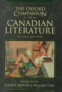 The Oxford Companion to Canadian Literature Book