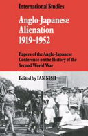 Anglo Japanese Alienation 1919 1952