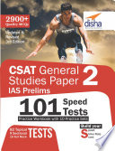 CSAT General Studies Paper 2 IAS Prelims 101 Speed Tests Practice Workbook with 10 Practice Sets - 3rd Edition