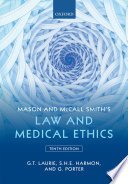 Mason And Mccall Smith S Law And Medical Ethics