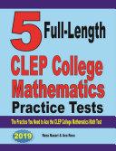 5 Full-Length CLEP College Mathematics Practice Tests Pdf/ePub eBook