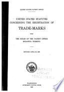 United States Statutes Concerning The Registration Of Trade Marks