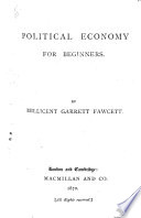 Political Economy for Beginners by Millicent Garrett Fawcett PDF