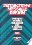 Instructional Message Design Principles From The Behavioral And Cognitive Malcolm L Fleming Google Books