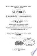 Syphilis to-day and among the ancients v. 1, 1891