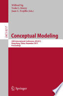 Conceptual Modeling   ER 2013