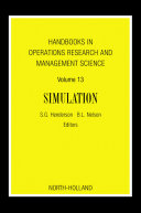 Pdf Handbooks in Operations Research and Management Science: Simulation