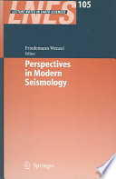 Perspectives In Modern Seismology Book PDF