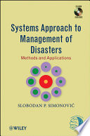 Systems Approach to Management of Disasters Book
