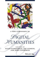NEW COMPANION TO DIGITAL HUMANITIES