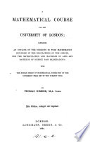 A mathematical course for the University of London   2nd