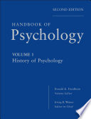 Handbook Of Psychology History Of Psychology