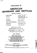 Catalogue of American Amphibians and Reptiles