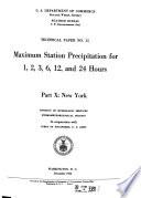 Maximum Station Precipitation for 1  2  3  6  12 and 24 Hours Book