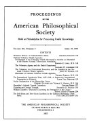 Pdf Proceedings, American Philosophical Society (vol. 101, no. 2, 1957) Telecharger