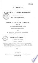 Manual of classical bibliography