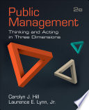 Public Management  : Thinking and Acting in Three Dimensions