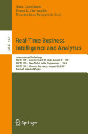 Real Time Business Intelligence and Analytics