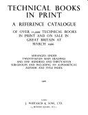 Technical Books in Print